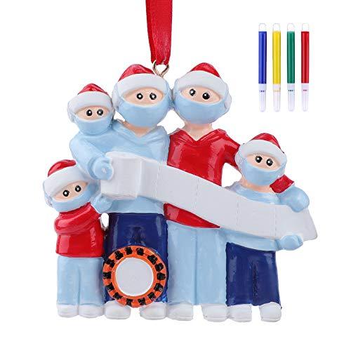 Price comparison product image ArtTao 2020 Christmas Ornament Quarantine Bulk Personalized Family Name Christmas Ornament Kit with Mask Toilet Paper,  2020 Christmas Ornament Souvenir