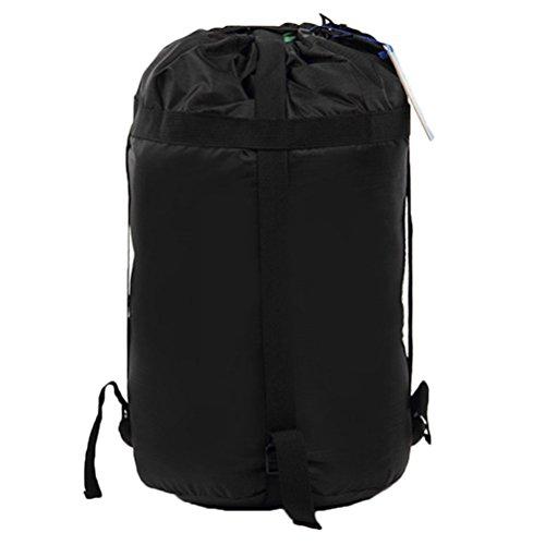 VORCOOL Wasserdicht Space Saver Compression Stuff Sack Schlafsack Sachen Sack Compression Tasche Säcke Camping Wandern Backpacking Jagd Reise Größe S (Schwarz)