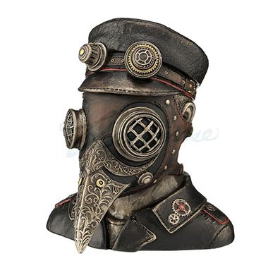 Unicorn Studios WU76839A4 Steampunk Plague Doctor Antique - Bronze