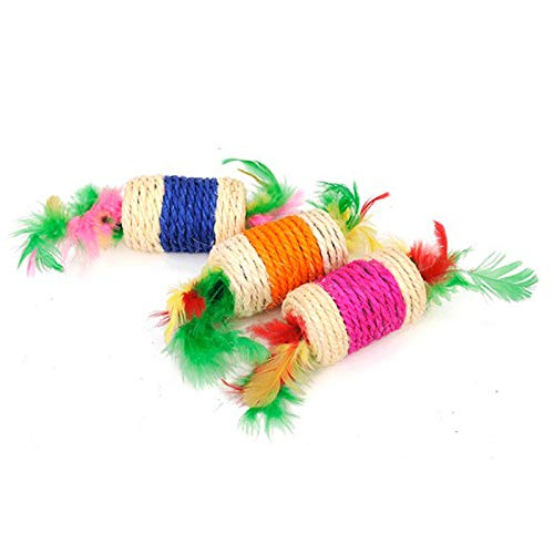 Westeng 2pcs giocattolo per il giocattolo di addestramento dell'animale domestico del giocattolo di masticazione del rullo della caramella dell'animale domestico del gatto