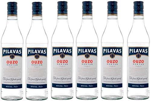 6x 0,7l Ouzo Pilavas Nektar 40% Vol. | + 1 x 20ml Olivenöl