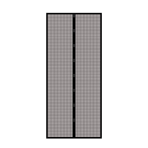 Rhino Screen Rhino Insect Screen Insektenschutz Türvorhang, Insektenvorhang, Magnet Fliegengitter Tür, Moskitoschutz, 95 x 215 cm, schwarz, 03798, 0.5x95.0x215 cm
