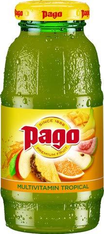Pago® Fruchtsaft, Multivitamin gold, Glasflasche, 12 x 0,2 l (12 Flaschen), Sie erhalten 1 Packung á 12 Flaschen