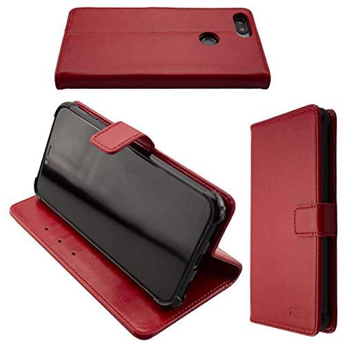 caseroxx Handy Hülle Tasche kompatibel mit Gigaset GS195 Bookstyle-Hülle Wallet Hülle in rot