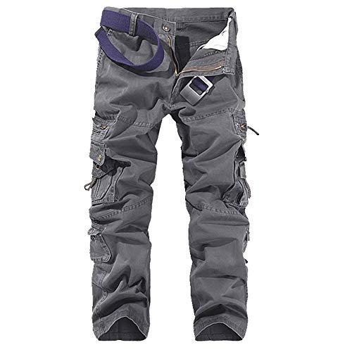 N\P Pantalones De Carga Pantalones De Camuflaje Militar Causal Recto Multi-Bolsillos Fitness Gimnasios Pantalones Suave