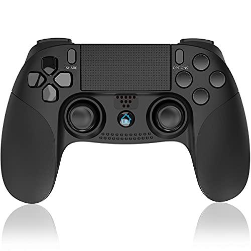 QULLO Controller per PS-4, Wireless Bluetooth Gioco Controller con Doppia Vibrazione Jack Audio   6-Assi TouchPad, Joystick Gamepad Compatibile con PS-4