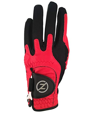 Zero Friction Men's Golf Gloves, Left Hand, One Size, Red