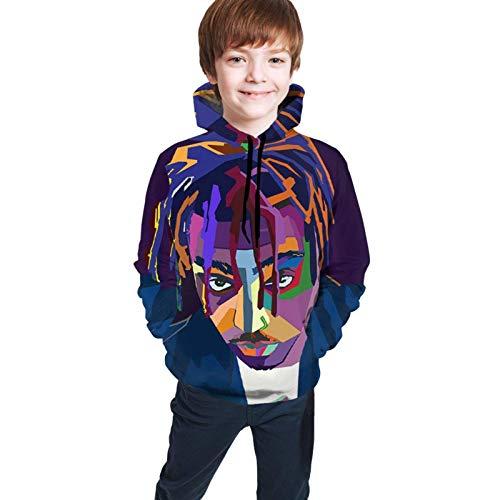 Sudaderas con Capucha Sudaderas Suéter de Manga Larga Suéter Juice Wrld Niños Casual Camisa con Estampado Digital 3D Bolsillo Niño y niña Adolescente Sudaderas