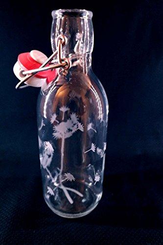 Freiglas 0,5l Trinkflasche aus Glas *Pusteblume* 100% plastikfrei, Nachhaltig, Made in Freiburg