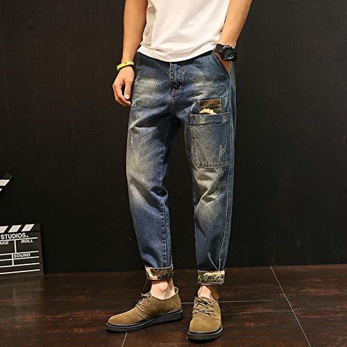 Vaqueros para Jeans Nuevos Pantalones Vaqueros Largos, Pantalones Sueltos para Hombres, Estudiantes Jóvenes, Pantalones con Personalidad Sal