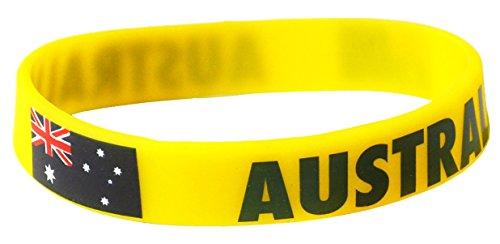 Komonee Australien Gelbe Weltmeisterschaft Olympia Silikon-Armband (1er Pack)