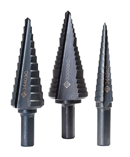 Greenlee 35884C STEP BIT KIT #1,3 & 8 (35884C), 1/8-Inch, 1/2-Inch, and 7/8-Inch
