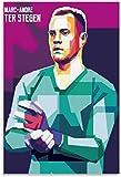 HuGuan Leinwand Bilder Kunst Andre TER Stegen Fußball
