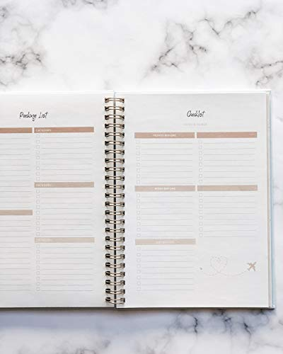 Product Image 4: Travel Planner Journal for Women– Travel Notebook and Vacation Journal for 6 Trips– A Great Travel Gift – Undated, 6 Trips
