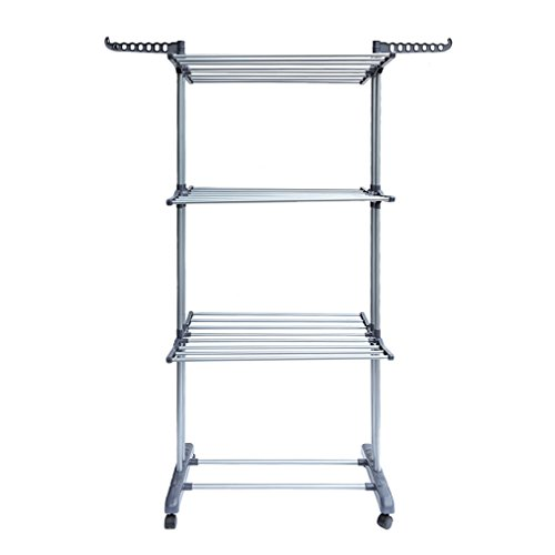 Sebastianee Foldable 3 Tier indoor Airer Clothes horse Laundry Drying...