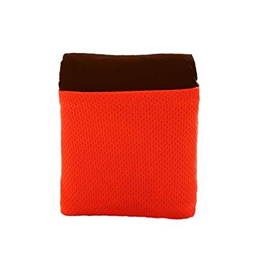 fedsjuihyg Picknick-Matte Nylon tragbare wasserdichte Camping Decken Faltbare Hitzebeständige Outdoor-Taschendecke Small Size Red