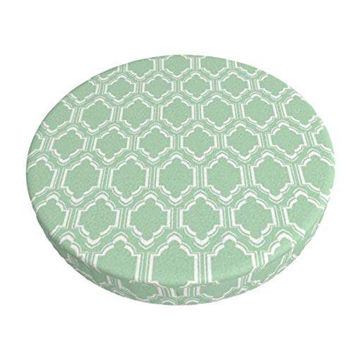 Round Bar Stools Cover,Schicke Minze Marokkaner,Stretch Chair Seat Bar Stool Cover Seat Cushion Slipcovers Chair Cushion Cover Round Lift Chair Stool