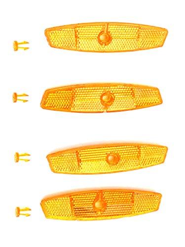 AASh Reflektierende Speichenreflektoren für Fahrräder, Orange, 116 mm, 4 Stück
