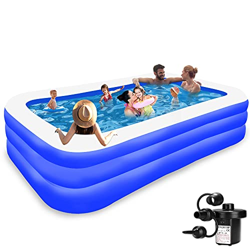 Inflatable Pool for Kids and Adults - Kiddie Pool Inflatable Swimming Pool for Kids Pools for Backyard Blow Up Pool 120