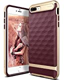 Caseology Parallax for Apple iPhone 8 Plus Case (2017) / for iPhone 7 Plus Case (2016) - Award Winning Design - Burgundy