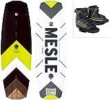 MESLE Wakeboard Set Pilot mit Fuse Bindung, Progressive Rocker, Slider Base, für Fortgeschrittene und Profis, für Cable und Boot, Längen 134 cm, 138 cm,...