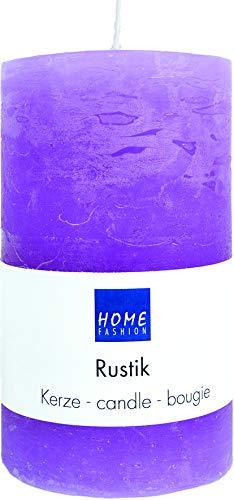 Kaars stompen rustiek violet als tafeldecoratie Ø 7cm, hoogte 12cm