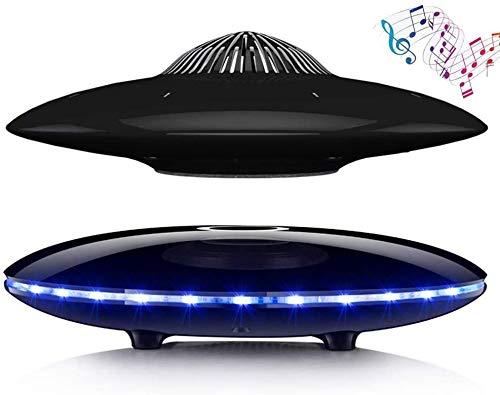 Schwebender schwebender Lautsprecher, Magnetischer UFO-Bluetooth-Lautsprecher V4.0, Drahtlose Ladung, 360-Grad-Drehung, für Heim- / Bürodekor, einzigartige Geschenke