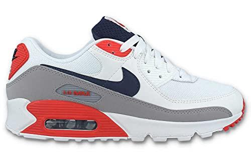 Nike Air MAX 90, Zapatillas de Running Hombre, Summit White Thunder Blue Cement Grey, 43 EU