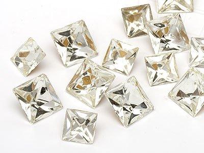 OPTIMA Pierres de gemme de Cadratin 8-12mm (Crystal Square Mix), 30 Pièces