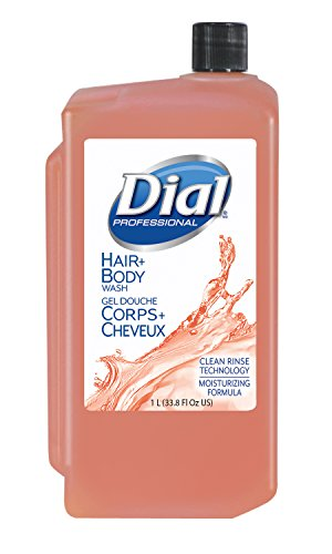 Dial Hair + Body Wash, 1L Refill Catridge (Pack of 8)