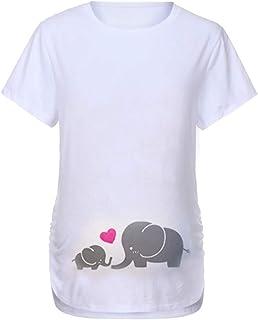 FRAUIT T Shirt Premaman Divertenti Maglietta maternit/à Manica Corta Divertente Maglia Gravidanza Elegante Magliette Maniche Corte Maglie Estate
