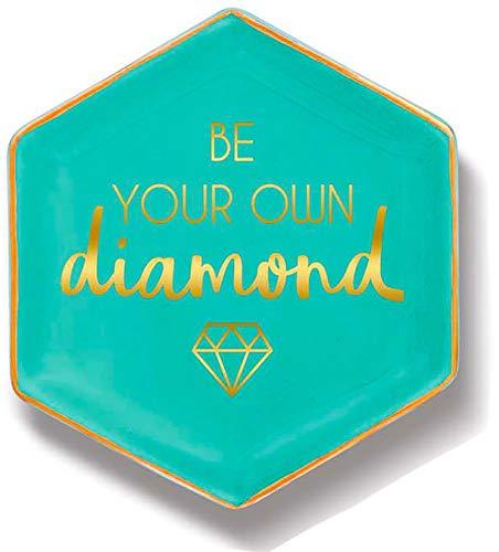 Stephanie Imports Keramik Schmuckplatte und dekorative Schmuckplatte Seien Sie Ihr eigener Diamant