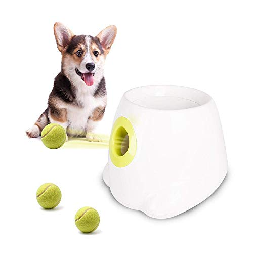 YSYDE Automatic Ball Launcher Dog Ball Thrower Machine Hyper Fetch Tennis Ball, The Launcher Features Make Independent Play Easy and Fun, and Feel Healthy and Happy