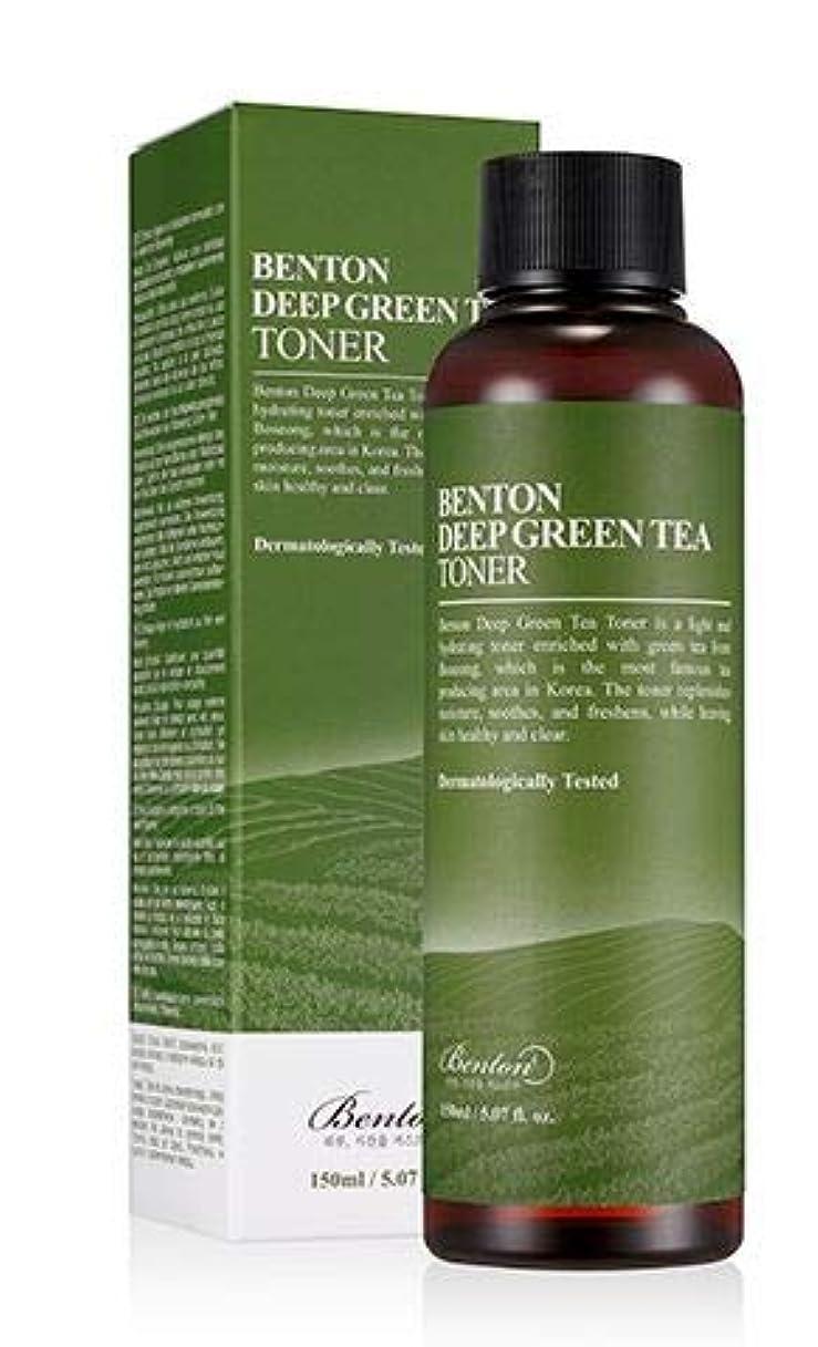 ずらす退化する東方[Benton] DEEP GREEN TEA TONER 150ml / [ベントン] ディップ グリーンティー トナー150ml [並行輸入品]