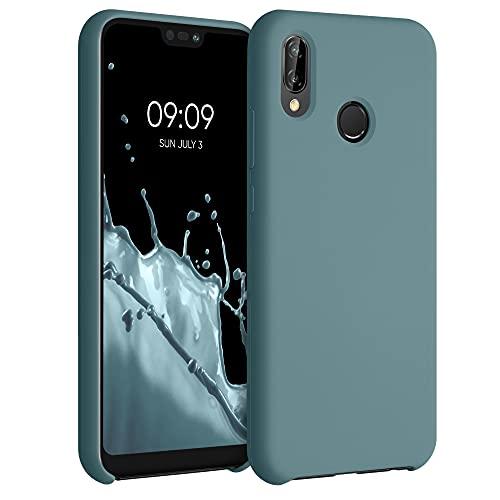 kwmobile Hülle kompatibel mit Huawei P20 Lite - Hülle Silikon gummiert - Handyhülle - Handy Case in Arctic Blue