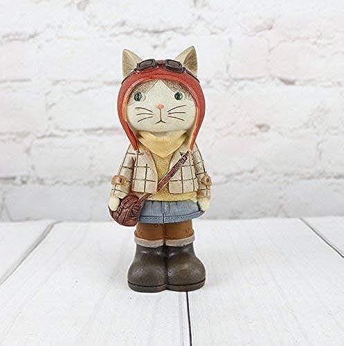 en venta en línea Yetta Caja de Dinegro Decorativa para para para Escritorio, decoración de artesanía en Resina, Hucha, Gato, Viaje  selección larga
