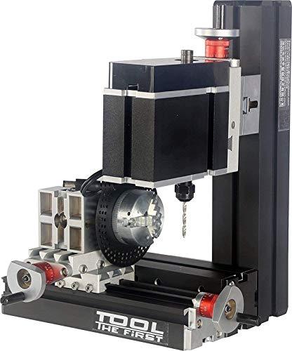 Herramientas Mini Máquina de perforación de torno de madera con placa de división Potencia grande Mini metal eléctrico Six Eje de seis ejes Perforando y fresadora Máquina de fresado Torno de torno Máq