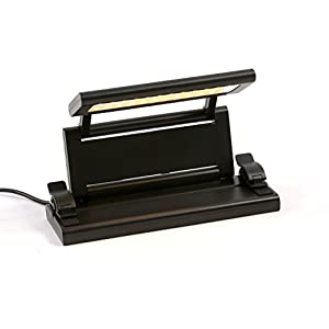 Alneo Light Lumy Notenpultleuchte Akku-Clip-LED-Lampe Arbeitslampe zusammenklappbar mit Netzteil & USB-Anschluss