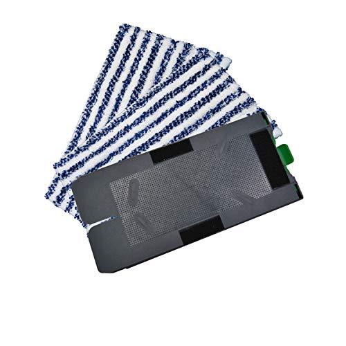 Ricambio placca 2 panno di pulizia + panno per la pulizia adatto per i vostri VORWERK FOLLETTO SP 520 e SP 530 aspirazione tergicristallo detergente umido