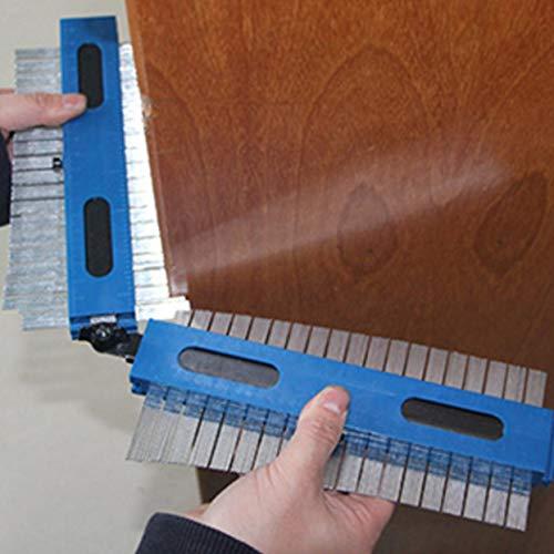 Tree-on-Life Kunststoff-Profil-Kopiermessgerät Konturmessgerät Standard-Holzmarkierungswerkzeug Fliesen Laminatfliesen Allgemeine Werkzeuge