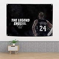 神戸#24バスケットボールの壁の布、レイカーズの壁掛け寝室のベッドサイドの背景の背景の背景の背景の背景の布の装飾的なぶら下がっている布 Kobe A-144*96CM