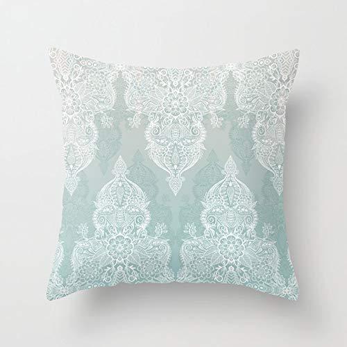 PPMP Funda de Almohada con diseño Tribal, Funda de cojín con Mandala Bohemia marroquí, Funda de cojín Decorativa para sofá del hogar, Funda de Almohada A11 45x45cm, 1pc