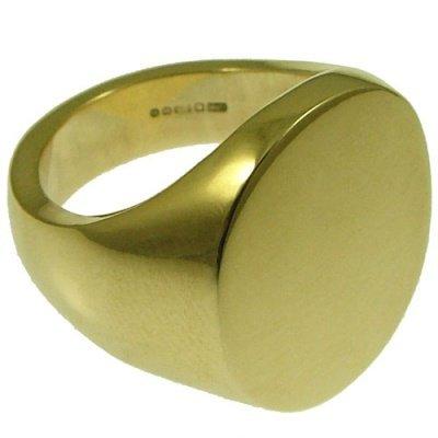 Ace Jewellery of York in oro giallo massiccio 9 carati marchiato, 22,2 g, marchio Anello con sigillo ovale, 20 x 16 x 3,2 mm