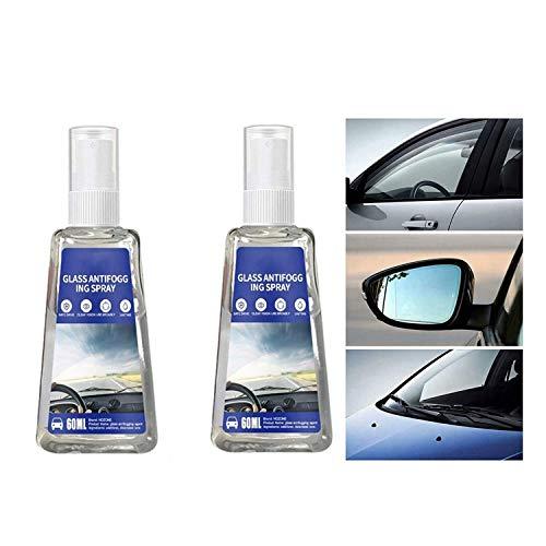 2 Pcs Car Goggles Windproof Anti-Fog Agent Liquid Nano Waterproof Spray (60ml)