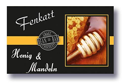 Mandel & Honig Schokolade 1x 80g - Fenkart Schokoladengenuss - Gefüllte Honig Caramel Creme 'Bean to Bar' Schokolade - Vom Bodensee aus Vorarlberg