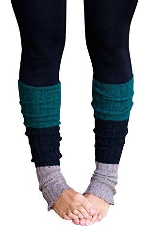 Lucky Love (TM) Striped Multicolor Reversible Knit Women Leg Warmers