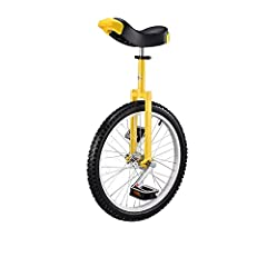 """Ideal for the first time unicyclist or the regular rider 16"""" available in chrome or red, 20"""" available in chrome, red, black, blue, or yellow, 24"""" available in chrome Cartridge bearings for smooth pedaling Quick release seat post clamp with comfortab..."""