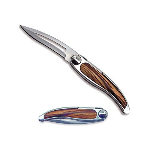 LAGUIOLE Couteau Design pliant, le nouveau design des couteaux Laguiole, PRIX EXCEPTIONNEL - manche bois clair exotique, avec la lame affinée et la robustesse d'un Laguiole, c'est le partenaire indispensable pour tous les jours - 22cm déployé