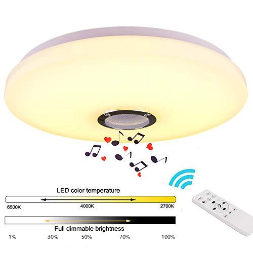 36W Bluetooth Deckenleuchte Sternenhimmel Deckenlampe mit Fernbedienung und Bluetooth Lautsprecher Dimmbar und Farbwechselnder Lampe für Kinderzimmer, Schlafzimmer, Wohnzimmer (CE-zertifiziert)