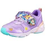 [ディズニー] スニーカー 運動靴 光る靴 アリエル 女の子 14~19cm キッズ DN C1273 パープル 19.0 cm 2E